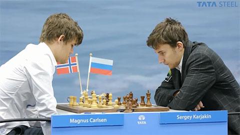 Carlsen vs. Karjakin en Wijk aan Zee 2013