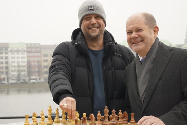 """""""Smudo"""" y alcalde Olaf Scholz el pasado día 2 de febrero"""