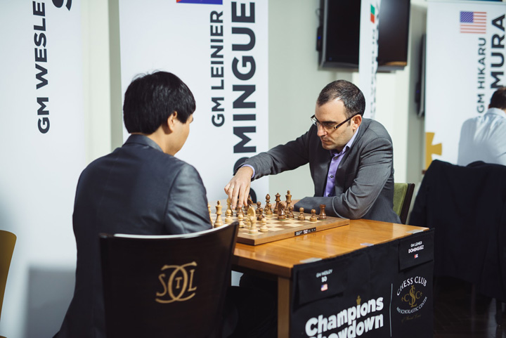Wesley So vs. Leinier Domínguez | Foto: Saint Louis Chess Club