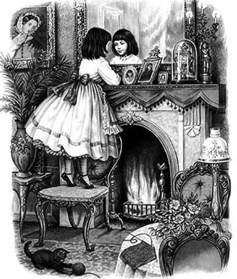 Imagen correspondiente a la edición original de A través del espejo y lo que Alicia encontró allí