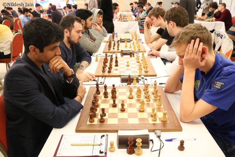 Vidit Gujrathi vs. Sorokin | Foto: Niklesh Jain