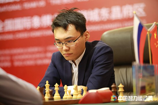 Yu Yangyi during the seventh round of the China vs the world match