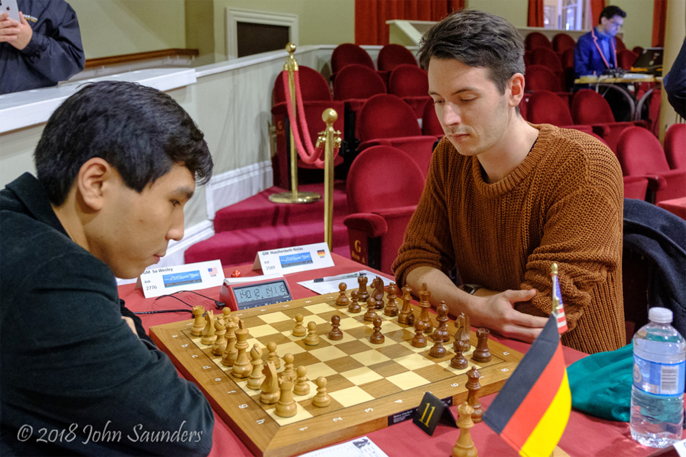 Wesley So vs. Niklas Huschenbeth | Foto: Chess.com/John Saunders (sitio web oficial)