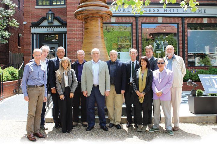 Los miembros de la Fundación Kasparov | Foto: cortesía de la Fundación Kasparov Iberoamericana de Ajedrez