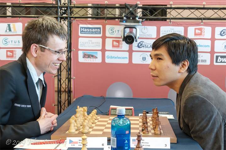 David Navara vs. Wesley So | Foto: John Saunders