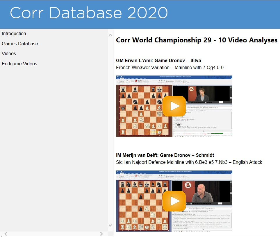 Corr Database videos