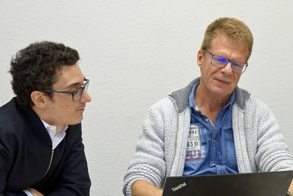 Caruana with Matthias Wullenweber