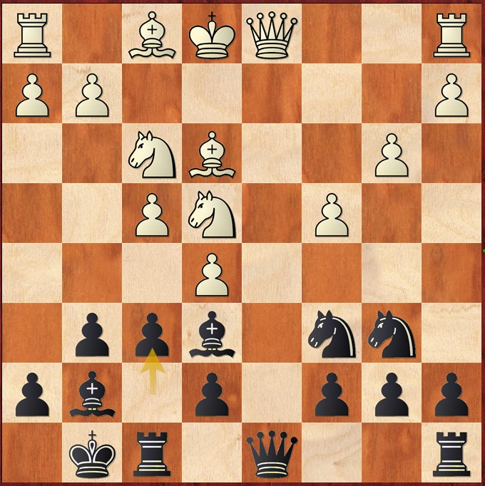Tablero Caruana - Carlsen, Carlsen Invitational 2020