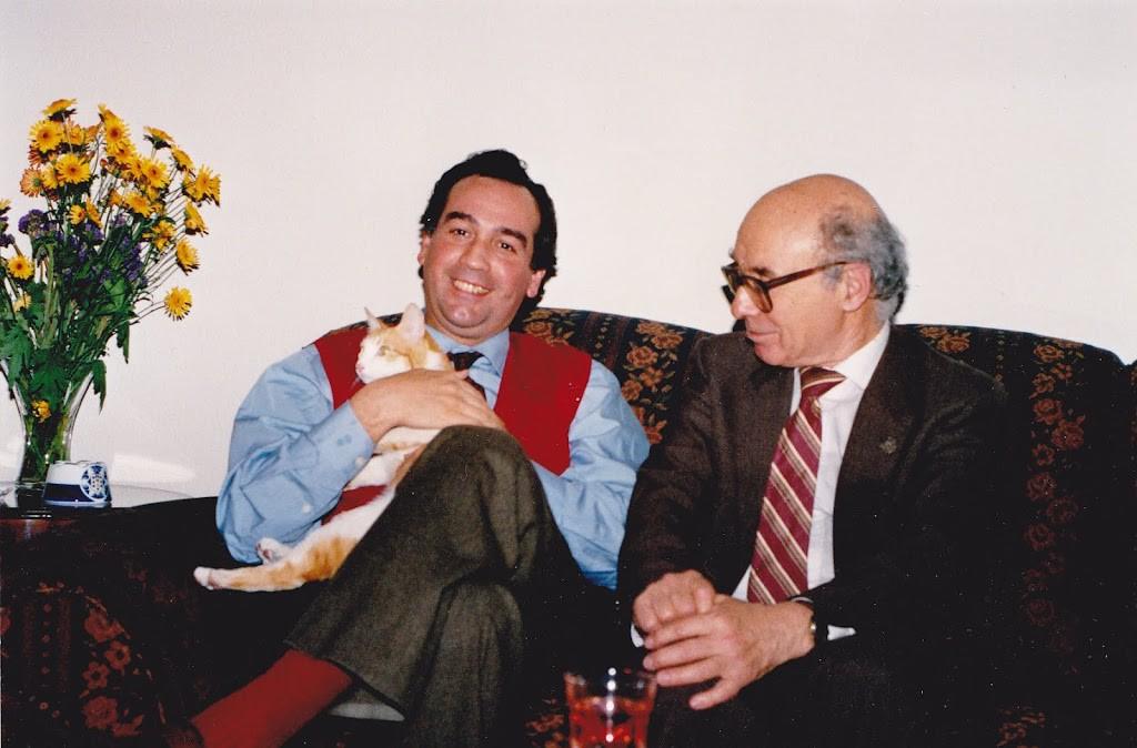 Antonio Gude con su amigo Bronstein